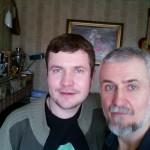 С сыном Антоном.