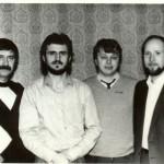 С В.Николаевым(Песняр),В.Губенко,Г.И.Должиковым1986г.