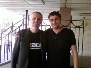 С Сергеем Лопатиным (2011).