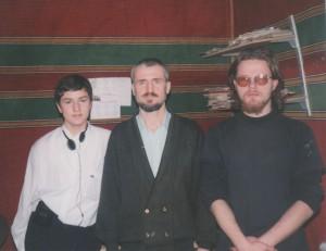 С С.Лопатиным и М.Комаровым(справа).