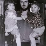 С детьми Оленькой и Антошкой.